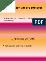 Como Fazer Um Pre Projeto