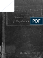 32d579e9485 Diccionario de Bolsillo Vasco-español Español-Vasco