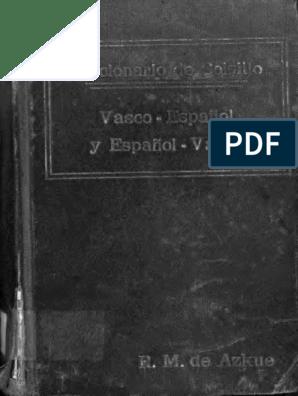 Diccionario De Bolsillo Vasco Español Español Vasco