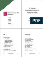 Introduction à l'Étalement de Spectre Et Au CDMA, Caacité Cellulaire