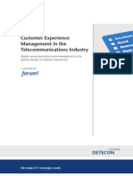 Detecon Study Customer Experience Management in the Telecommunications Industry. Market survey and action recommendations for the optimal design of customer experiences