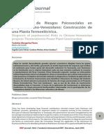 Diagnostico de Riesgos Psicosociales en Proyecto Chino