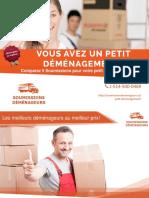 5 Soumissions pour Petit Déménagement au Québec