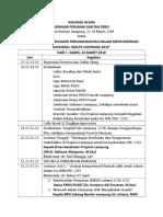 Susunan Acara Seminar Perumahsakitan Dan Hospital Fair 2018