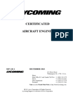 Engines - Certificated Engine List