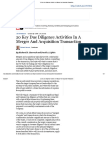20 Key Due Diligence Activities in a Merger and Acquisition Transaction