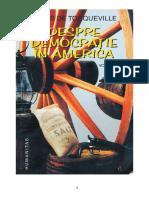 Alexis de Tocqueville - Despre Democratie in America - Vol. 1