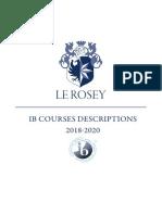 Courses Descriptions IB