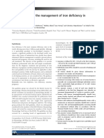 UK Guidelines on the Management of Iron Deficiency in Pregnancy
