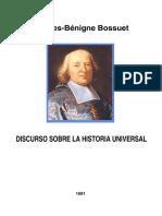 Bossuet - Discurso Sobre La Historia Universal