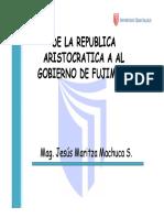 Sesion 2 de La Republica Aristocratica A