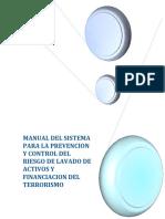 Manual Del Sistema Para La Prevencion y Control Del Riesgo de Lavado de Activos y Financiacion Del Terrorismo