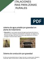 Instalaciones Sanitarias Para Zonas Rurales