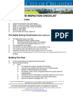 Fire Inspection Checklist