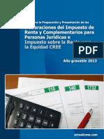 Declaracion Renta Pj- Cree Ag2013