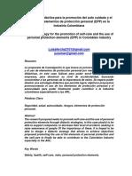 Estrategia Didáctica Para La Promoción Del Auto Cuidado y El Uso de Los Elementos de Protección Personal