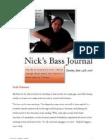 Nick's Bass Journal