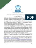Acnur insta a gobiernos del mundo a brindar estancia legal a los venezolanos (Nota de orientación)