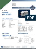 Datasheet Norsat LNA Ku Band 4000 Series