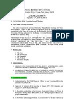 2010-09-13 Council Agenda Session