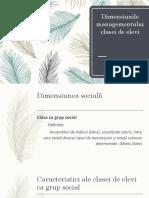 3_dimensiunea Sociala, Normativa,Operationala, Creativa