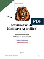 1 La Restauracion Del Ministerio Apostolico Pro (1)
