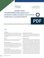 Profilaxis Primaria Para Tromboembolismo Venoso en Pacientes Ambulatorios Con Cancer Sometidos a Quimioterapia