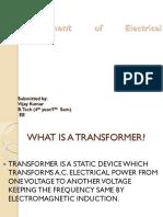 Transformer Tranning Ppt by Vijay