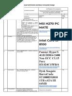 22 Specyfikacja Techniczna PC