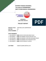 Machine Design Project Report UNITEN