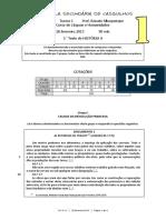 Teste 11º - Rev. Francesa
