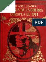 Vicente Blasco Ibáñez - HISTORIA DE LA GUERRA EUROPEA DE 1914 (TOMO 6)