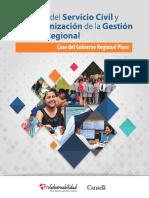 Reforma Del Servicio Civil y Modernización de La Gestión Pública Regional