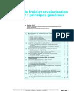 FEIDT Michel - Production de Froid Et Revalorisation de La Chaleur, Principes Généraux