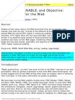 How to WriteForTheWeb