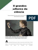 10 Grandes Mulheres Da Ciência