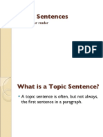 Stripped topic sentences