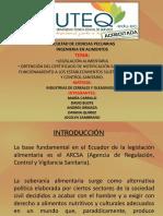 LEGISLACION ALIMENTARIA Y NOTIFICACIÓN SANITARIA