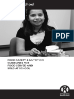 food safety   nutrition guidlines for food served and sold at school