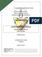 Inf I Guía Metodológica Alumno 1a Parte 2011-2012