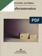 Mis Documentos de Alejandro Zambra