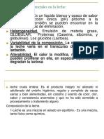 Caracteristicas Esenciales de La Leche