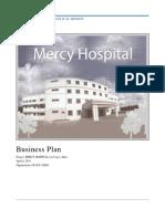 Mercy Hospital Business Plan