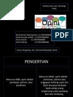 Presentation OPINI Kelompok 10
