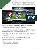 Prediksi Bournemouth vs Tottenham Hotspur 11 Maret 2018 _ PREDIKSI BOLA HANTU