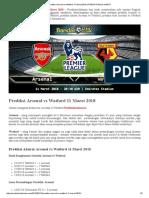 Prediksi Arsenal vs Watford 11 Maret 2018 _ PREDIKSI BOLA HANTU