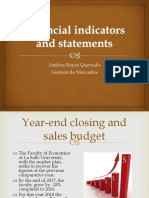 Financial Indicators and Statements