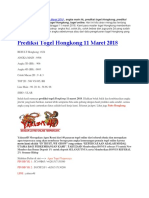 Prediksi Togel Hongkong 11 Maret 2018 - Yakuzalotto