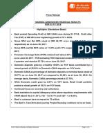 Bob Press Release Financial Results q1 Fy18