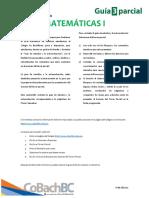 Guía de estudio tercer parcial - Matemáticas I